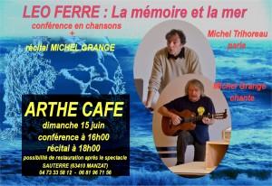 Conférence sur Léo Ferré à l'arthé café
